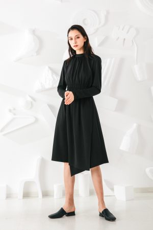 SKYE San Francisco SF shop ethical modern minimalist quality women clothing fashion Mirabelle Dress black 3