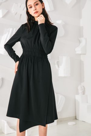 SKYE San Francisco SF shop ethical modern minimalist quality women clothing fashion Mirabelle Dress black 5