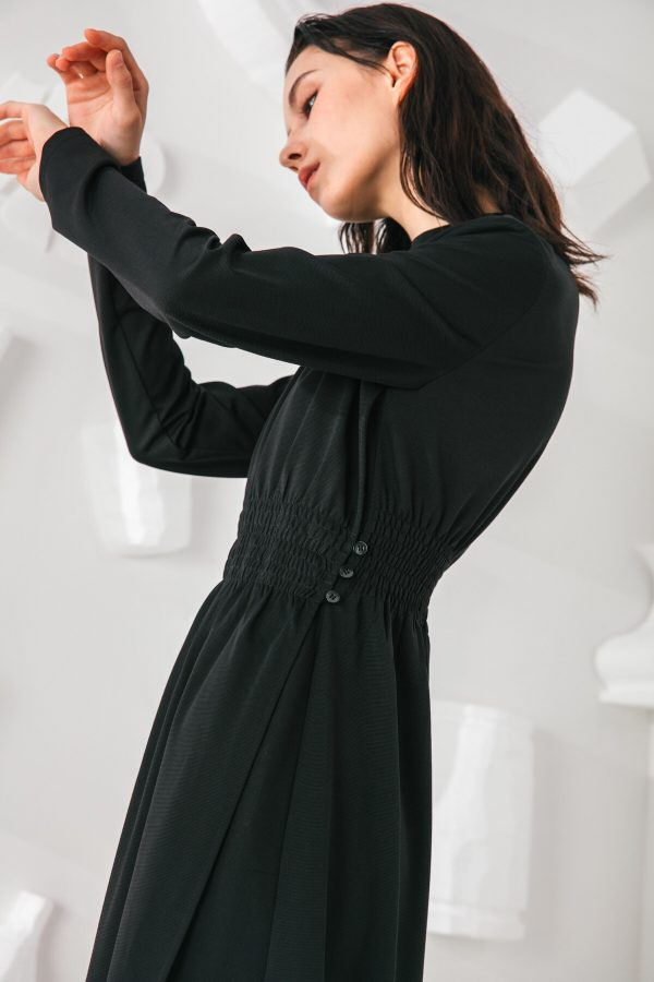 SKYE San Francisco SF shop ethical modern minimalist quality women clothing fashion Mirabelle Dress black 6
