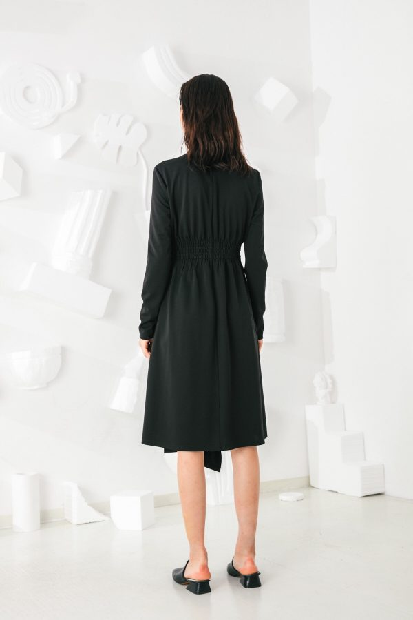 SKYE San Francisco SF shop ethical modern minimalist quality women clothing fashion Mirabelle Dress black