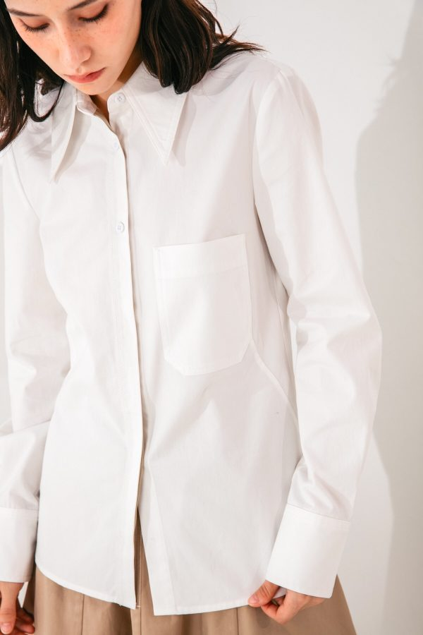 SKYE San Francisco SF shop ethical modern minimalist quality women clothing fashion Audrey Shirt white 4
