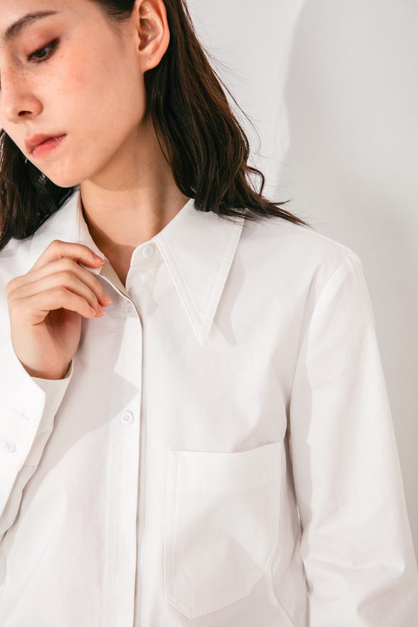 SKYE San Francisco SF shop ethical modern minimalist quality women clothing fashion Audrey Shirt white 5