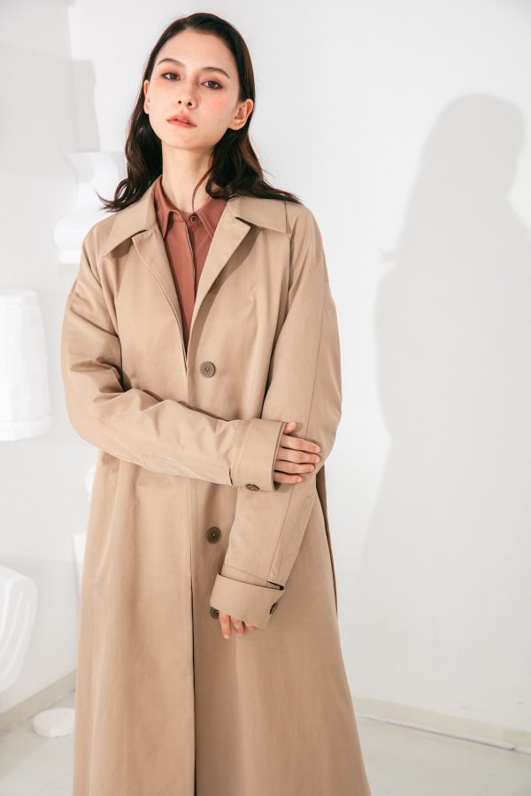 SKYE San Francisco SF shop ethical modern minimalist quality women clothing fashion Coraline Trench Coat beige 3