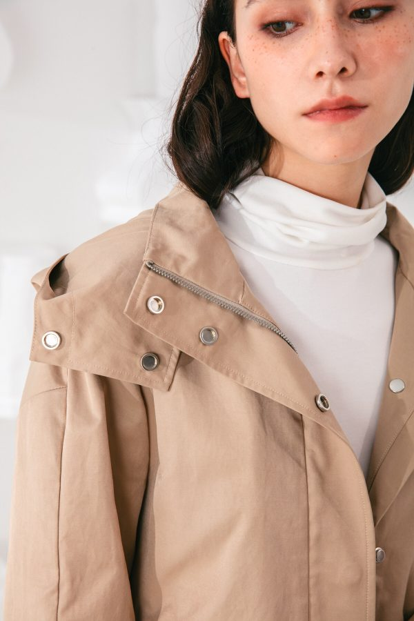 SKYE San Francisco SF shop ethical modern minimalist quality women clothing fashion Gabrielle Coat beige 2