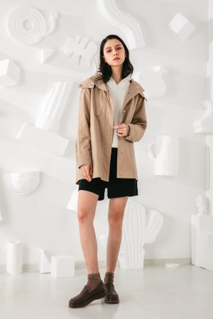 SKYE San Francisco SF shop ethical modern minimalist quality women clothing fashion Gabrielle Coat beige 4