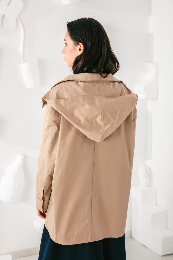 SKYE San Francisco SF shop ethical modern minimalist quality women clothing fashion Gabrielle Coat beige 5