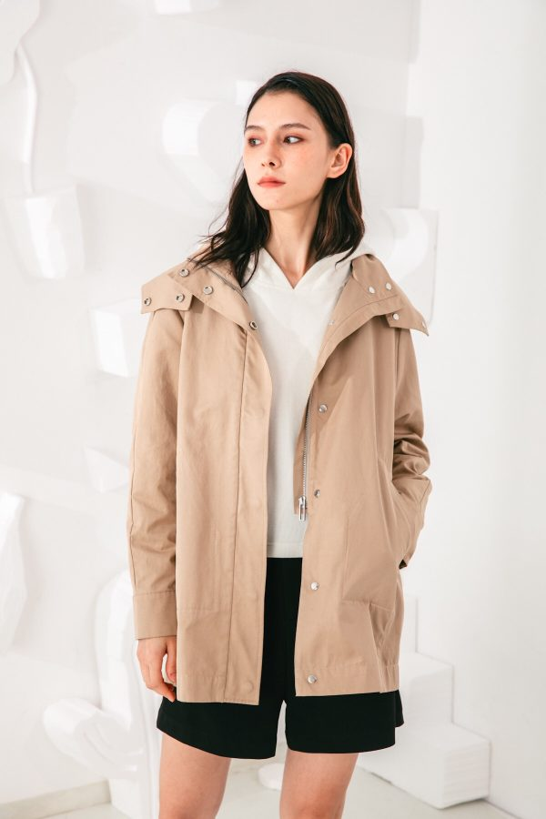 SKYE San Francisco SF shop ethical modern minimalist quality women clothing fashion Gabrielle Coat beige 6