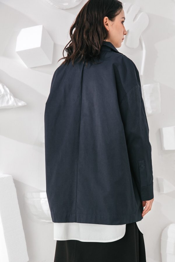 SKYE San Francisco SF shop ethical modern minimalist quality women clothing fashion Gabrielle Coat blue