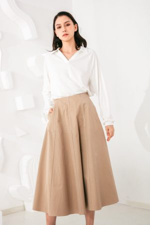 SKYE San Francisco SF shop ethical modern minimalist quality women clothing fashion Jeanne Midi Skirt 2