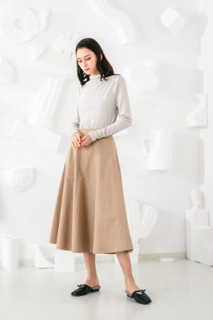 SKYE San Francisco SF shop ethical modern minimalist quality women clothing fashion Jeanne Midi Skirt 5