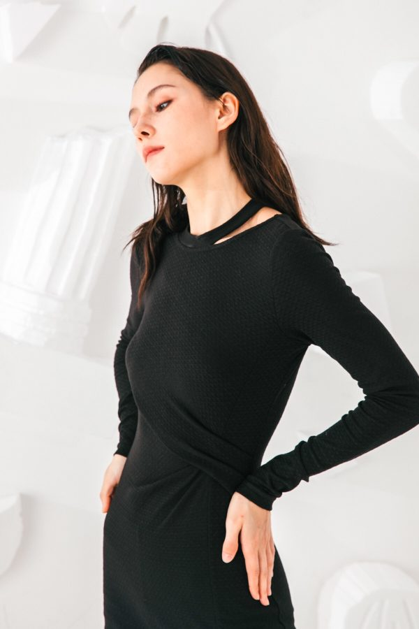 SKYE San Francisco SF shop ethical modern minimalist quality women clothing fashion Mélanie Dress black 2