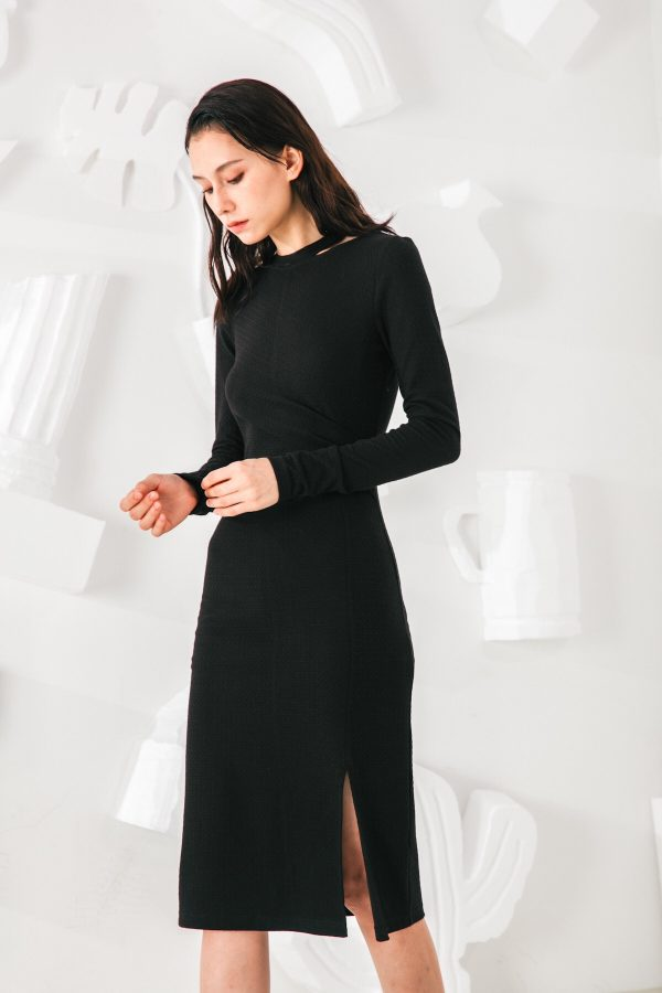 SKYE San Francisco SF shop ethical modern minimalist quality women clothing fashion Mélanie Dress black 3