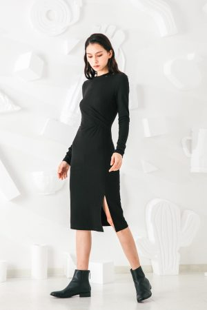 SKYE San Francisco SF shop ethical modern minimalist quality women clothing fashion Mélanie Dress black 5