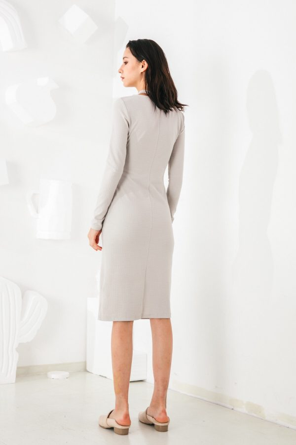 SKYE San Francisco SF shop ethical modern minimalist quality women clothing fashion Mélanie Dress grey 2
