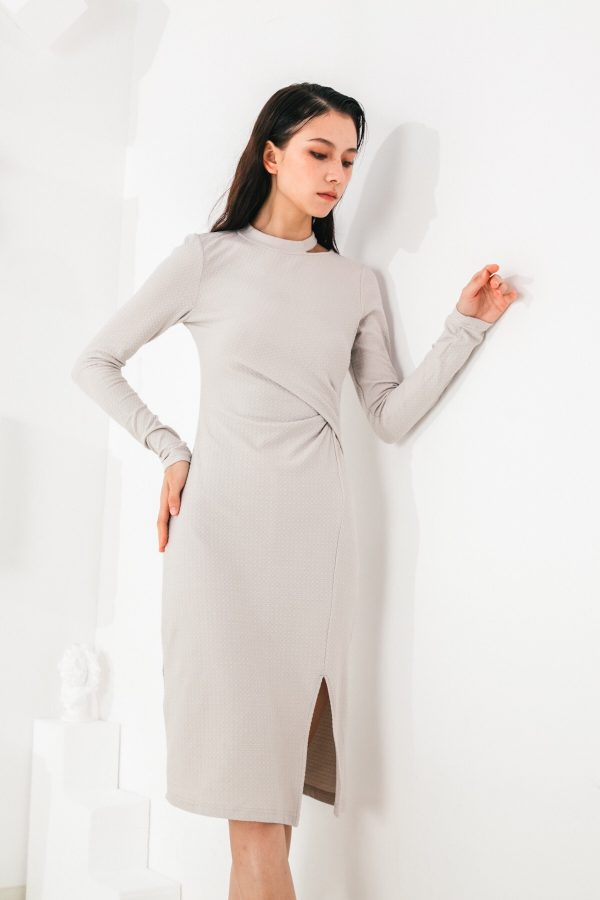 SKYE San Francisco SF shop ethical modern minimalist quality women clothing fashion Mélanie Dress grey 3