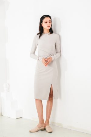 SKYE San Francisco SF shop ethical modern minimalist quality women clothing fashion Mélanie Dress grey