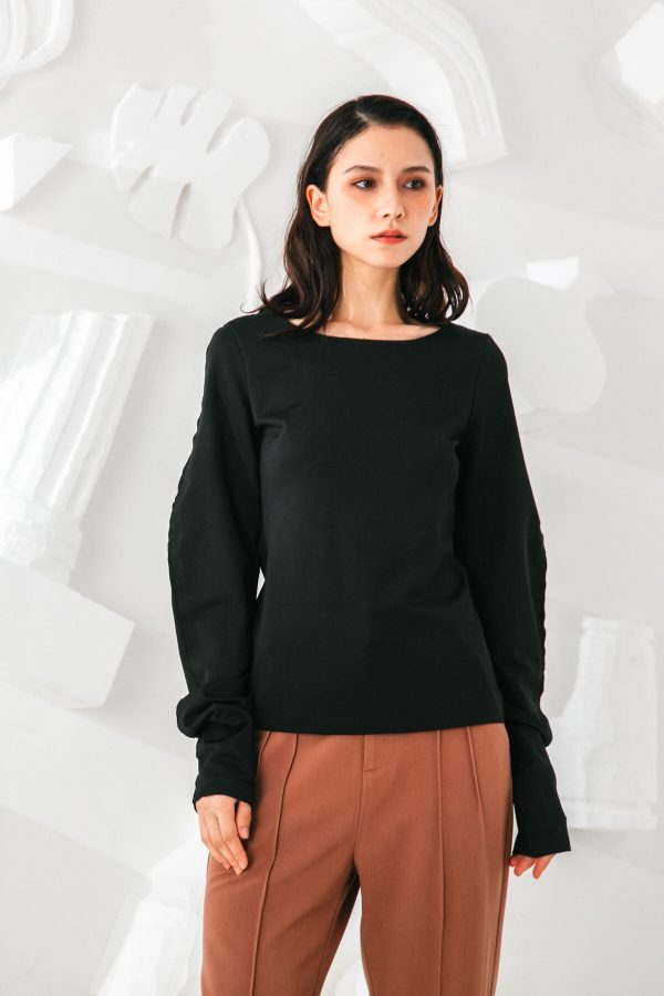 SKYE San Francisco SF shop ethical sustainable modern minimalist quality women clothing fashion Slyvie Top black 5
