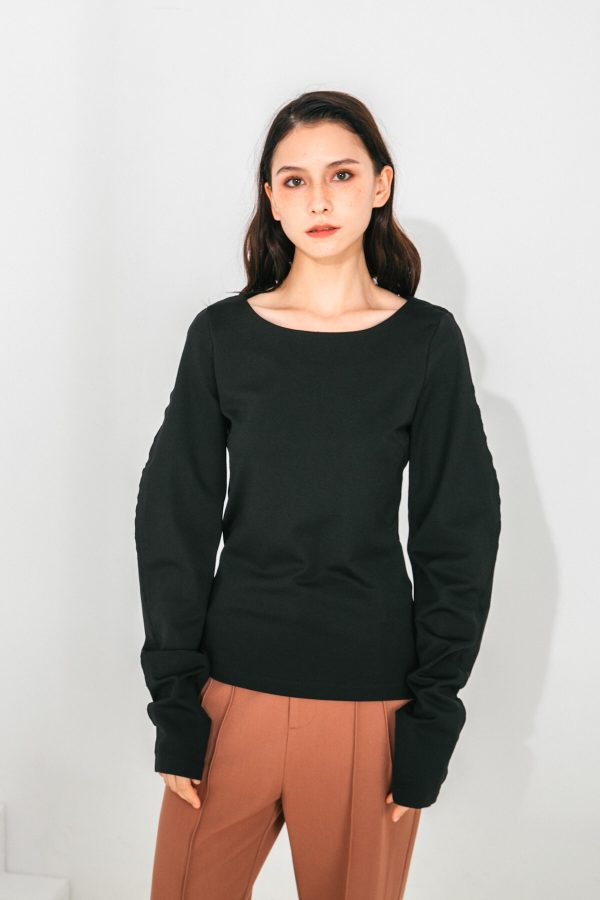 SKYE San Francisco SF shop ethical sustainable modern minimalist quality women clothing fashion Slyvie Top black 6