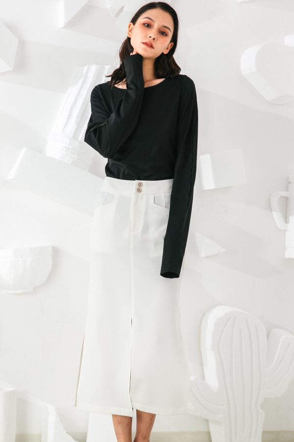 SKYE San Francisco SF shop ethical sustainable modern minimalist quality women clothing fashion Slyvie Top black 7