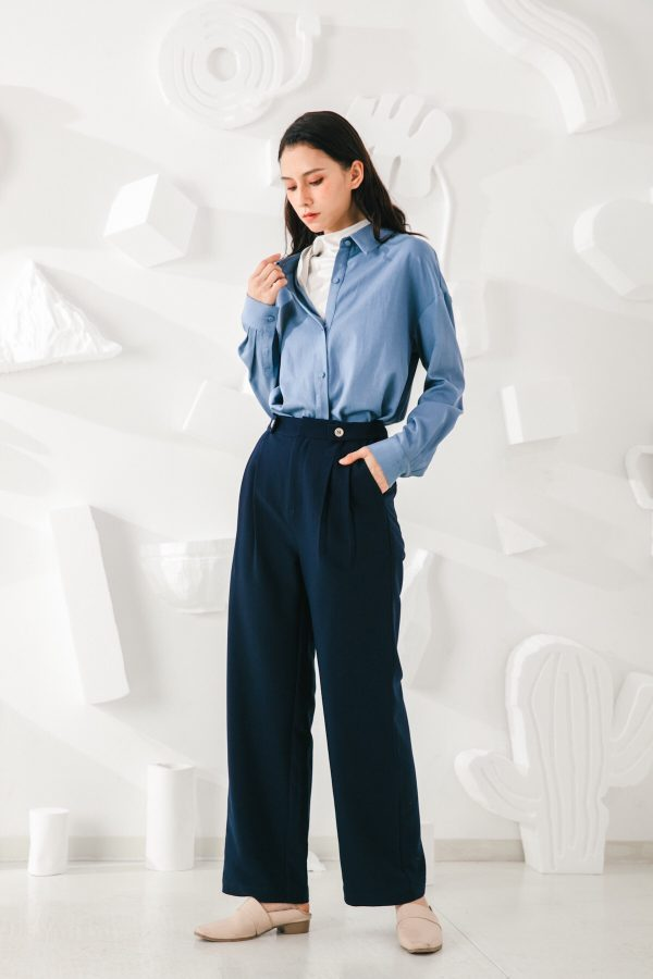 SKYE San Francisco SF California shop ethical sustainable modern minimalist quality women clothing fashion Esmée Pants blue 6