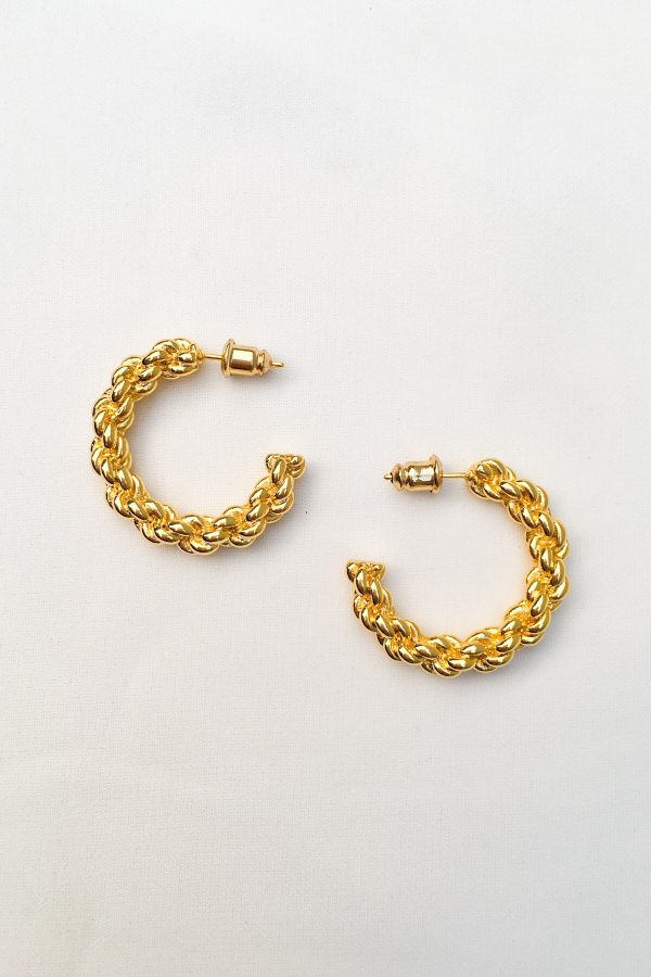 SKYE San Francisco SF California shop ethical sustainable modern minimalist quality women jewelry Lemar 18K Gold Hoop Earrings 3