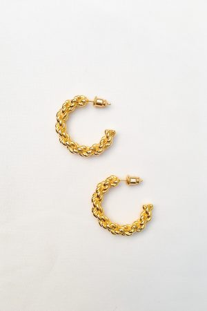 SKYE San Francisco SF California shop ethical sustainable modern minimalist quality women jewelry Lemar 18K Gold Hoop Earrings