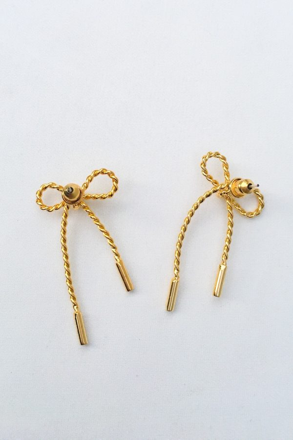 SKYE San Francisco SF California shop ethical sustainable modern minimalist quality women jewelry Luis 18K Gold Bow Earrings 2
