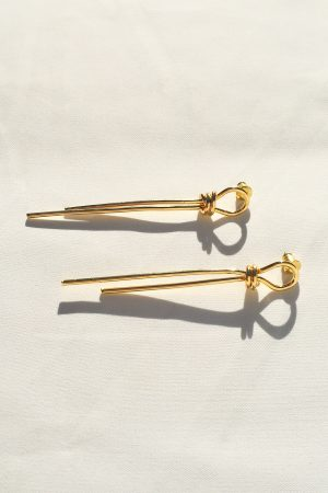 SKYE San Francisco SF California shop ethical sustainable modern minimalist quality women jewelry Talie 18K Gold Earrings 3