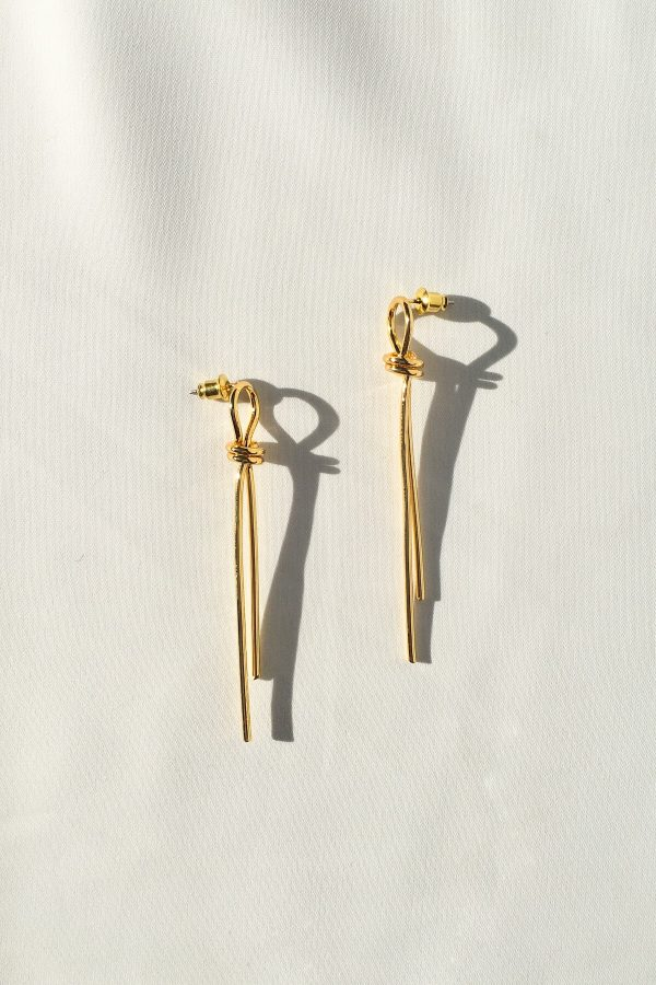 SKYE San Francisco SF California shop ethical sustainable modern minimalist quality women jewelry Talie 18K Gold Earrings 4
