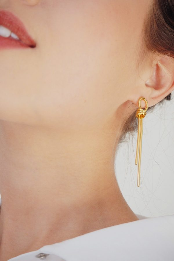 SKYE San Francisco SF California shop ethical sustainable modern minimalist quality women jewelry Talie 18K Gold Earrings