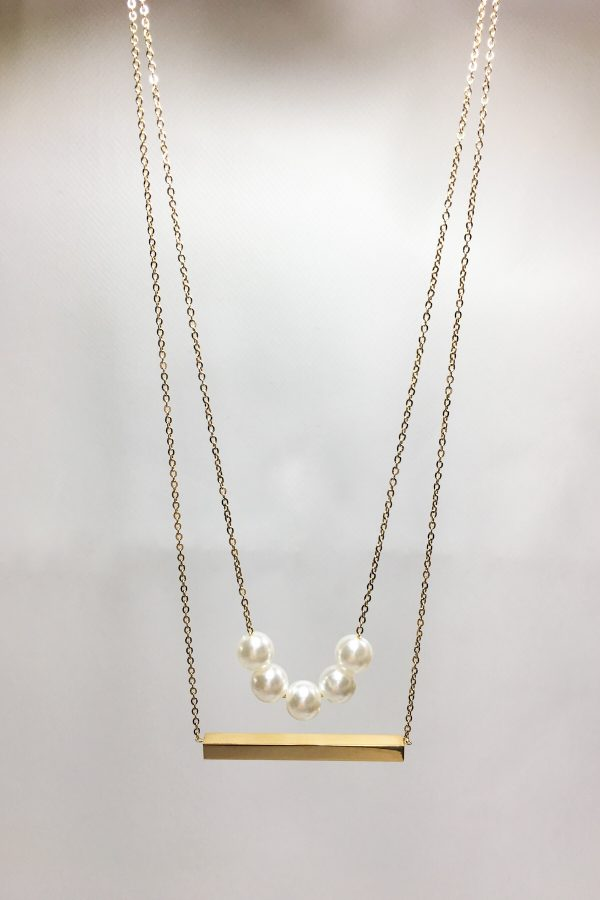 SKYE San Francisco SF ethical sustainable modern minimalist women fashion accessories Abbé 18K Gold Pearl Layered Necklace 3