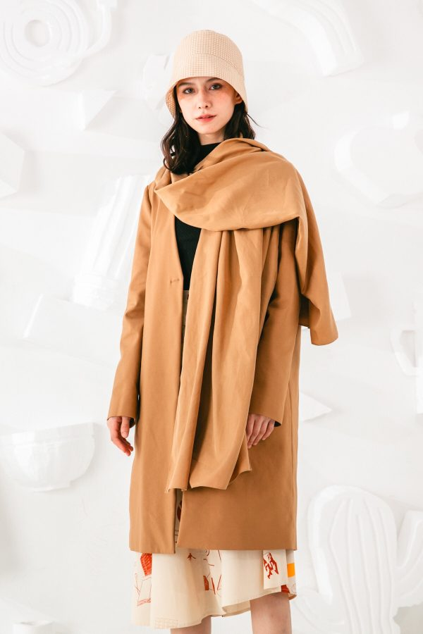 SKYE San Francisco SF shop ethical sustainable modern minimalist elegant quality women clothing fashion brand Fayette Insulated Scarf Coat 4