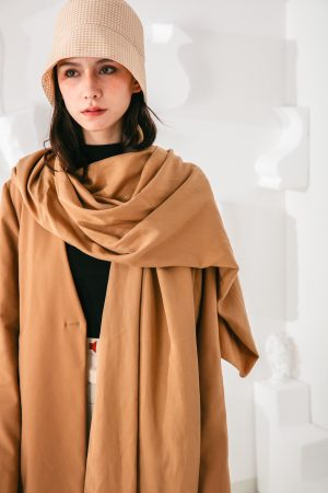 SKYE San Francisco SF shop ethical sustainable modern minimalist elegant quality women clothing fashion brand Fayette Insulated Scarf Coat 5