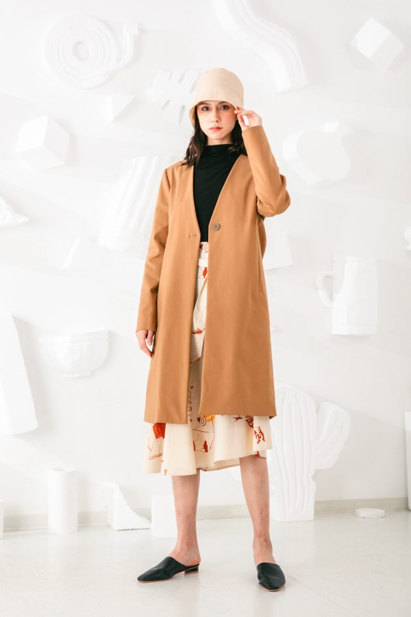 SKYE San Francisco SF shop ethical sustainable modern minimalist elegant quality women clothing fashion brand Fayette Insulated Scarf Coat