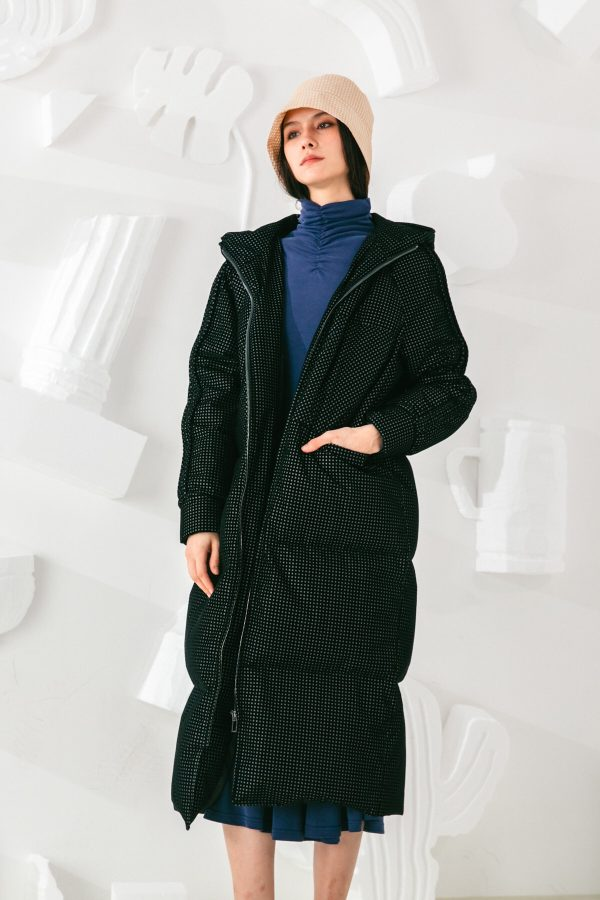 SKYE San Francisco SF shop ethical sustainable modern minimalist elegant quality women clothing fashion brand Garcelle Down Puffer Coat Parka black 2