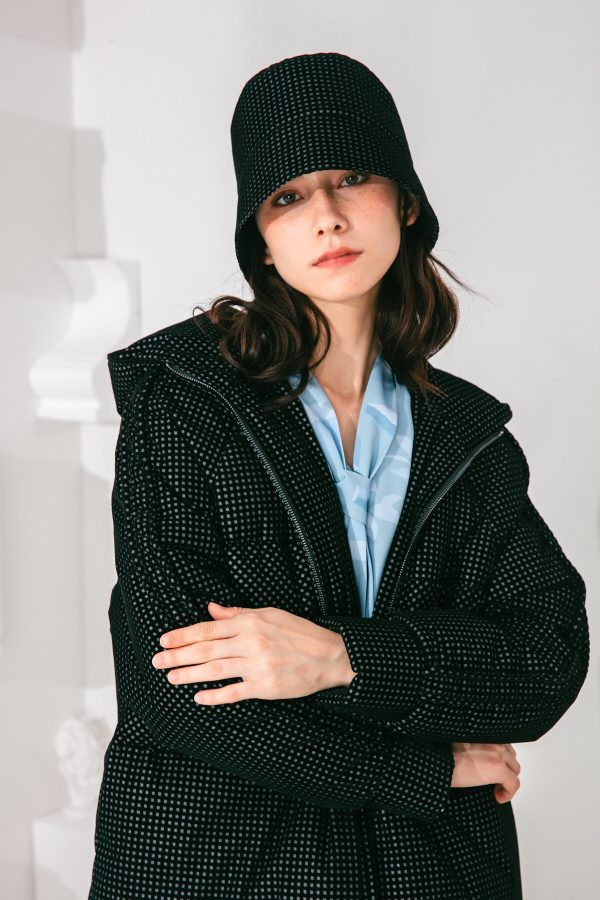 SKYE San Francisco SF shop ethical sustainable modern minimalist elegant quality women clothing fashion brand Garcelle Down Puffer Coat Parka black 4
