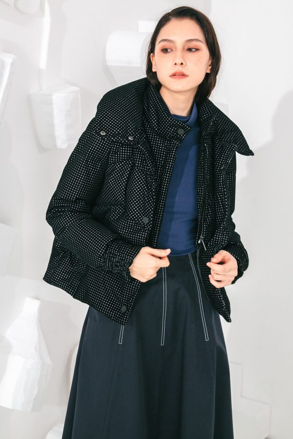 SKYE San Francisco SF shop ethical sustainable modern minimalist elegant quality women clothing fashion brand Giselle Down Puffer Jacket Black 2
