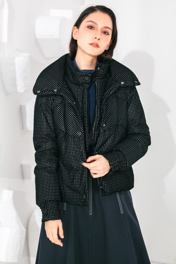 SKYE San Francisco SF shop ethical sustainable modern minimalist elegant quality women clothing fashion brand Giselle Down Puffer Jacket Black