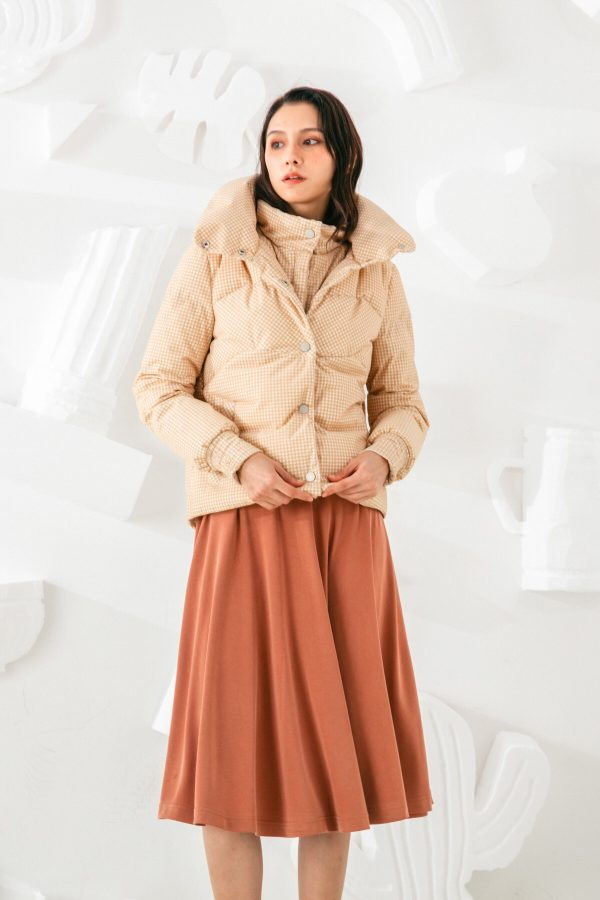 SKYE San Francisco SF shop ethical sustainable modern minimalist elegant quality women clothing fashion brand Giselle Down Puffer Jacket Light Beige 2