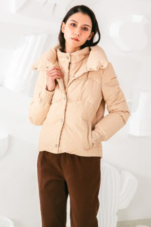 SKYE San Francisco SF shop ethical sustainable modern minimalist elegant quality women clothing fashion brand Giselle Down Puffer Jacket Light Beige 3