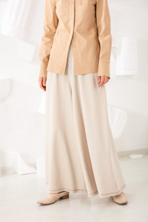 SKYE San Francisco SF shop ethical sustainable modern minimalist quality women clothing fashion Stéphane Pants beige 2
