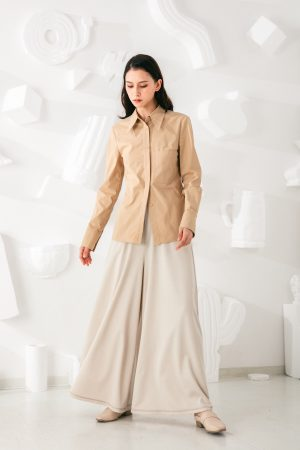 SKYE San Francisco SF shop ethical sustainable modern minimalist quality women clothing fashion Stéphane Pants beige 3