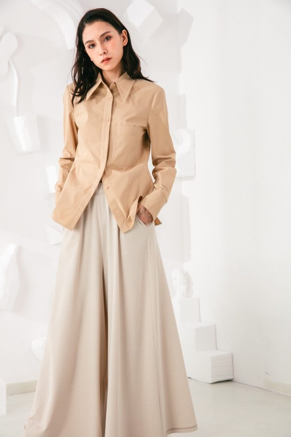 SKYE San Francisco SF shop ethical sustainable modern minimalist quality women clothing fashion Stéphane Pants beige