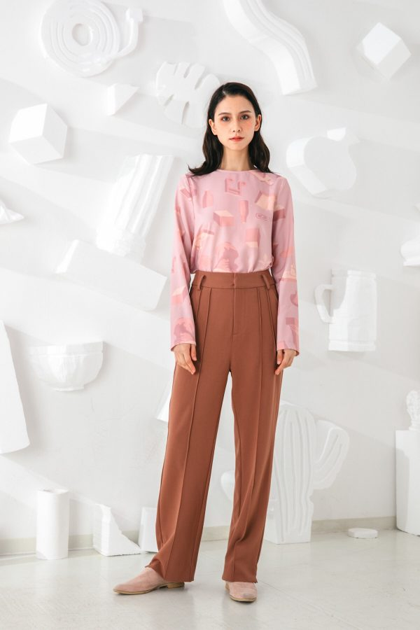 SKYE San Francisco SF shop ethical sustainable modern minimalist elegant quality women clothing fashion brand Adélaide Pants Light Brown 2