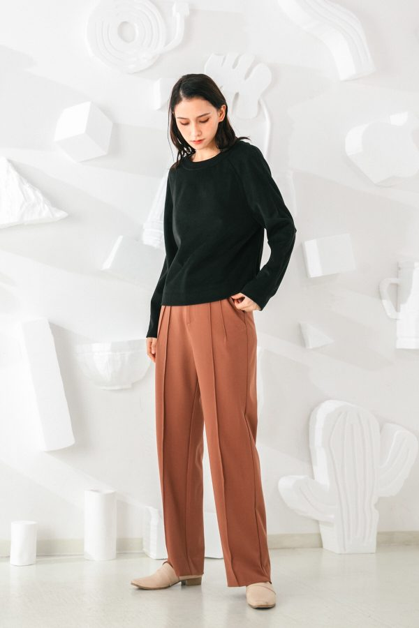 SKYE San Francisco SF shop ethical sustainable modern minimalist elegant quality women clothing fashion brand Adélaide Pants Light Brown 3