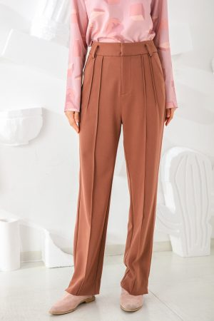SKYE San Francisco SF shop ethical sustainable modern minimalist elegant quality women clothing fashion brand Adélaide Pants Light Brown 4