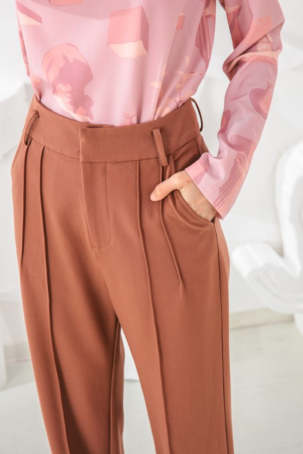 SKYE San Francisco SF shop ethical sustainable modern minimalist elegant quality women clothing fashion brand Adélaide Pants Light Brown 5