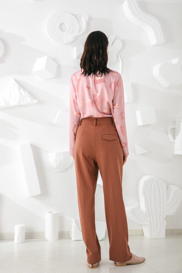 SKYE San Francisco SF shop ethical sustainable modern minimalist elegant quality women clothing fashion brand Adélaide Pants Light Brown