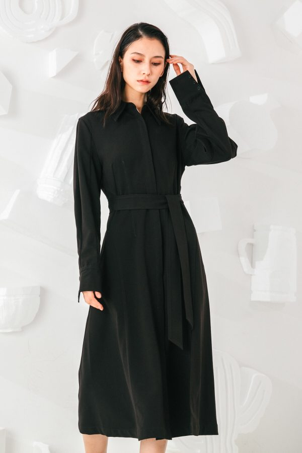 SKYE San Francisco SF shop ethical sustainable modern minimalist elegant quality women clothing fashion brand Celeste Dress Black