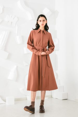 SKYE San Francisco SF shop ethical sustainable modern minimalist elegant quality women clothing fashion brand Celeste Dress Light Brown 6